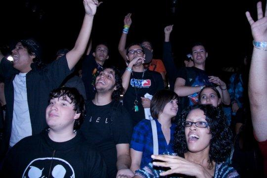 El publico antes de la final de Street Fighter
