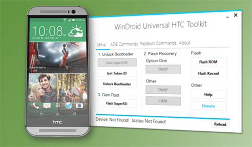 "WinDroid Universal HTC Toolkit permite obtener ""root"" a"
